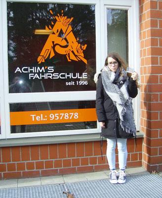 Jasmin Winkelmann hat ihren B Führerschein seit dem 02.03.2017
