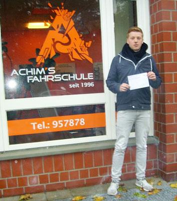Ruben Prenzel hat seinen B Führerschein seit dem 16.11.16