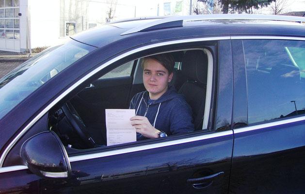 Paul Hindricks hat seinen B-Führerschein seit dem 07.01.14!