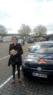 Finja Borchers hat ihren B Führerschein seit dem 06.05.2019!