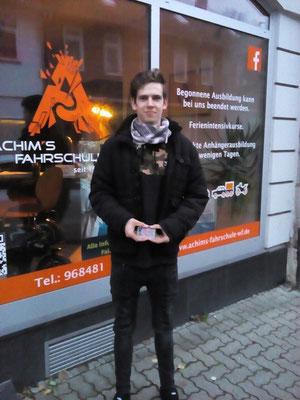 Patrick Masche hat seinen B Führerschein seit dem 15.11.2017