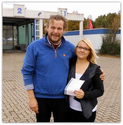 Marie Charlott Reich hat ihren B-Führerschein seit dem 17.10.14!