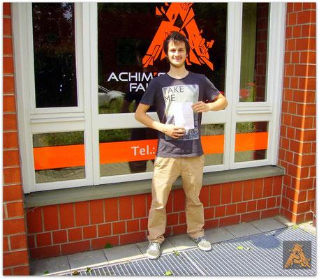 Nikita Arndt hat seinen B-Führerschein seit dem 08.07.15!
