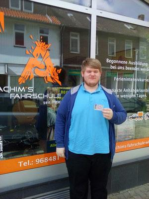 Marcel Fricke hat seinen B Führerschein seit dem 15.09.2017