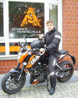 Hendrik Hadam hat seinen A1 Führerschein seit dem 05.07.2017