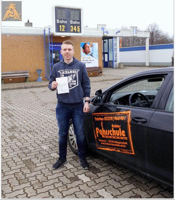 Philipp Michehl hat seinen B-Führerschein seit dem 18.02.16!