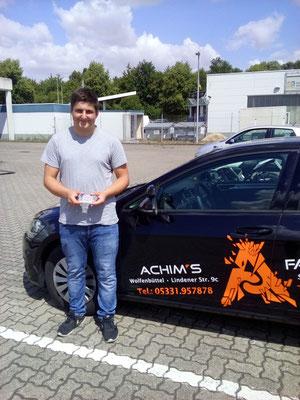Sönke Umbach hat seinen B Führerschein seit dem 11.07.2018