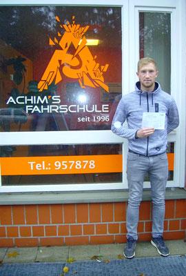Sascha Schulz hat seinen B Führerschein seit dem 21.11.2017