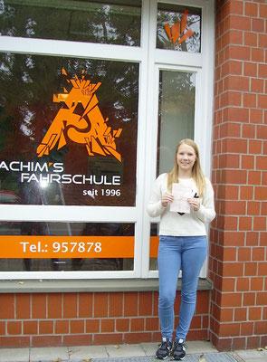Lea Gäbel hat ihren B-Führerschein seit dem 27.09.16!