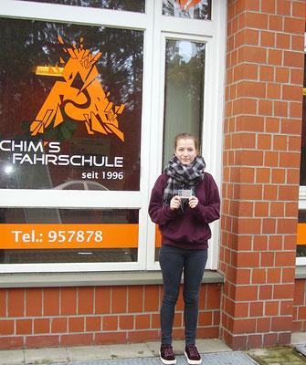 Antonia Wilheine hat ihren B Führerschein seit dem 26.01.2018