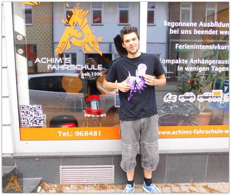 Luca Bosse hat seinen B-Führerschein seit dem 27.08.15!