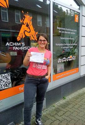 Friederike Herrmann hat ihren B Führerschein seit dem 24.07.2017