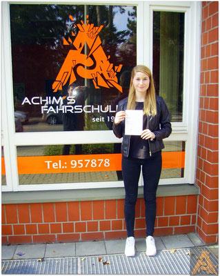 Luise Meier hat ihren B-Führerschein seit dem 06.04.16!