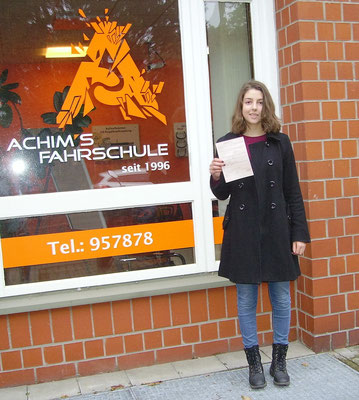 Hannah Lieth hat ihren B Führerschein seit dem 20.10.16