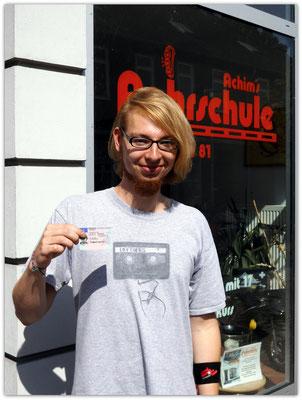 Frederik Warmbein hat seinen B-Führerschein seit dem 06.08.14!