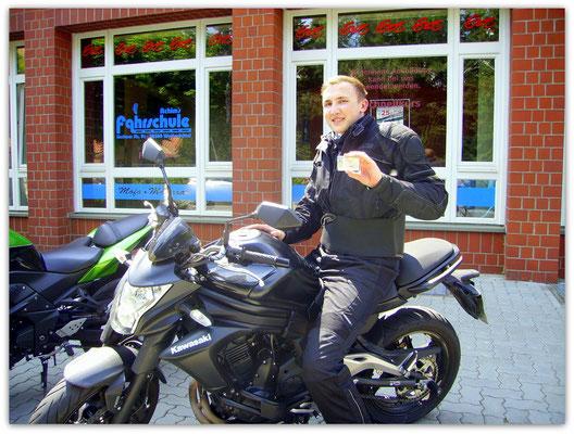 Ansgar Dannhauer hat seinen A2-Führerschein seit dem 20.05.14!