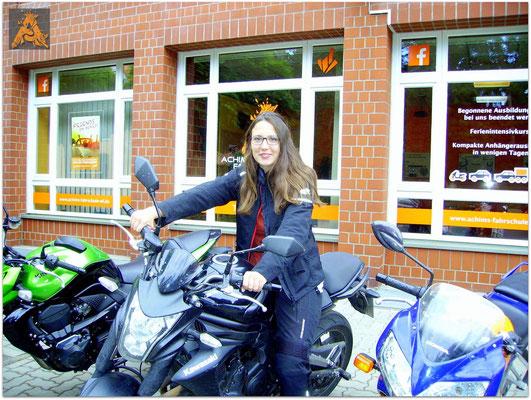 Johanna Maske hat ihren A2S-Führerschein seit dem 15.06.15!