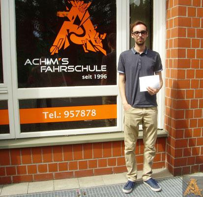 Tim Klages hat seinen B-Führerschein seit dem 20.07.16!