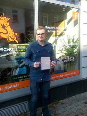 Lorenz Kollrodt hat seinen B Führerschein seit dem 19.10.2017