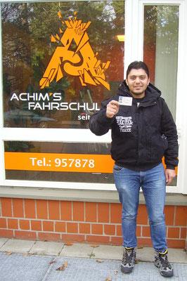 Basil Al Basha hat seinen B Führerschein seit dem 04.12.2017