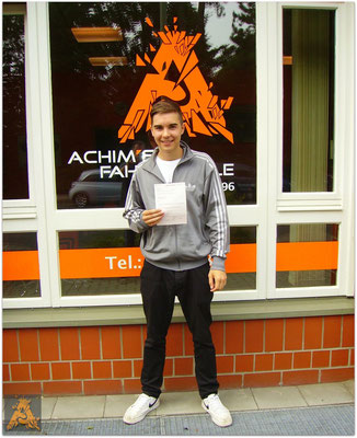Max Strutz hat seinen bF17-Führerschein seit dem 26.06.15!