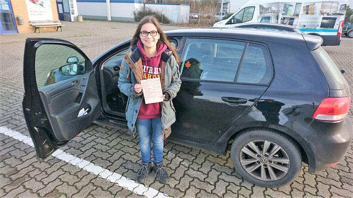 Kristin Arendts hat ihren B Führerschein seit dem 08.12.16