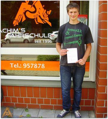 Mark Philip von Wantoch hat seinen B-Führerschein seit dem 25.08.15!