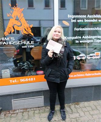 Kimberley Scholz hat ihren B Führerschein seit dem 17.01.17
