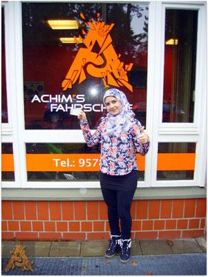 AbirAl Saide hat ihren B-Führerschein seit dem 22.02.16!