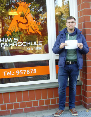Hannes Moesch hat seinen B Führerschein seit dem 20.01.17
