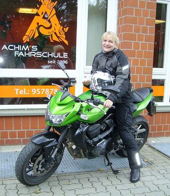 Anabel Krüger hat ihren A Führerschein seit dem 19.10.16