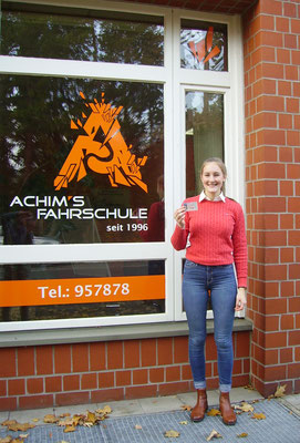 Sofie Marx hat ihren B Führerschein seit dem 09.11.2018!