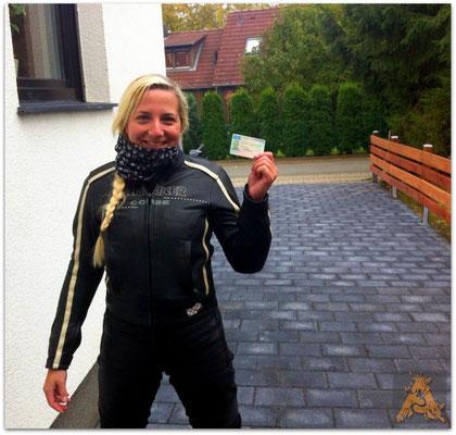 Norina Degering hat ihren A-Führerschein seit dem 01.10.15!