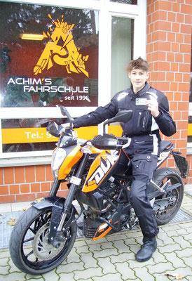 Yannik Korytowski hat seinen A1 Führerschein seit dem 27.10.2017