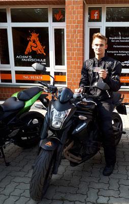 Jannes Meier hat seinen A2S Führerschein seit dem 28.08.2018!
