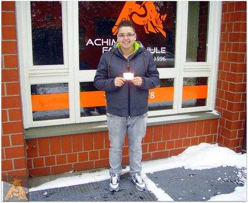 Sophie Mehlhase hat ihren B-Führerschein seit dem 06.01.16!