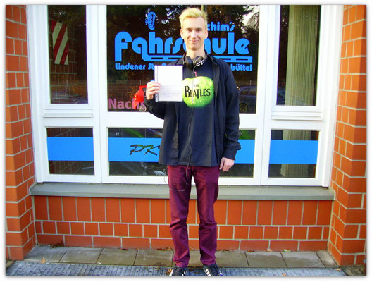 Max Klages hat seinen B-Führerschein seit dem 07.01.15!