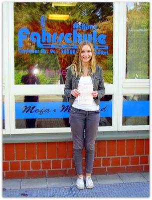 Johanna Hermann hat ihren B-Führerschein seit dem 06.05.15!