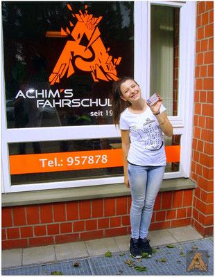 Melissa Zöngür hat ihren B-Führerschein seit dem 01.07.16!