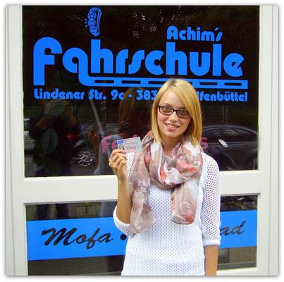 Mandy Kunz hat ihren B-Führerschein seit dem 14.08.14!