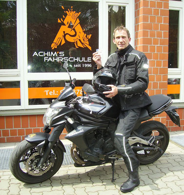 Erich Schulz hat seinen A2 Führerschein seit dem 14.07.2017