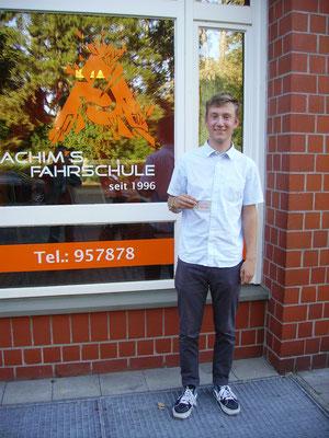 Finn Ole Koch hat seinen B-Führerschein seit dem 19.10.2018!