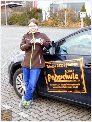 Sabrina Strebe hat ihren B-Führerschein seit dem 24.02.16!
