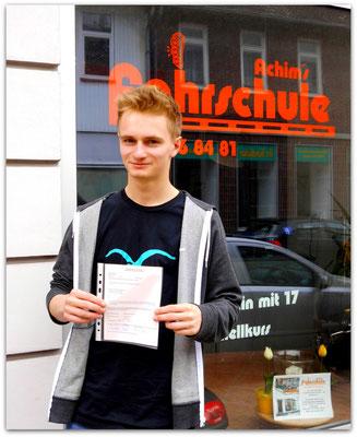 Dario Meske hat seinen B-Führerschein seit dem 06.05.14!