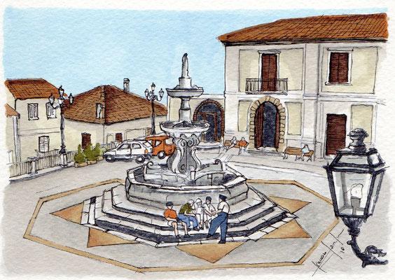 San Giorgio Morgeto - La Piazza del paese