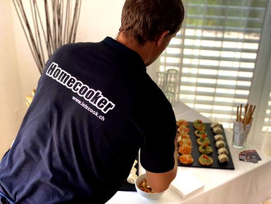 immer frisch vor Ort zubereitet, egal ob Privatanlass oder Hochzeit... Wir sind für euch da... Let's Cook GmbH