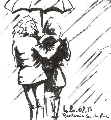 Bordelais sous la pluie.