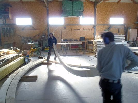 Préparation des arceaux en atelier