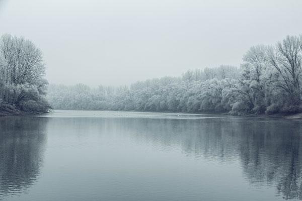 Winter am nördlichen Baggersee