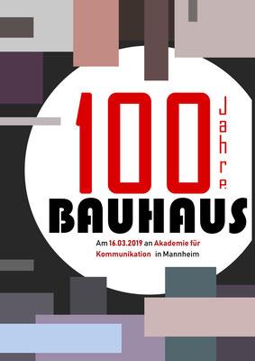 Bauhausplakat von Vanessa M., 2. Klasse Grafikdesign.